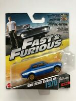 Mattel Fast and Furious Ford Escort RS1600 MK1 1970 Blue 6/32 Sealed 1:55 Scale