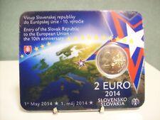 Slowakije 2014 2 euro CC 10 jaar lid EU BU