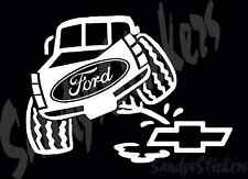 Ford Peeing On Chevy Vinyl Decal Sticker - F-150 Raptor F-250 F-350 Diesel Truck