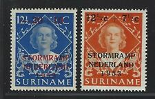 1953 Surinam Scott #B53-B54 - Netherlands Flood Relief Semi-postal Set - MH