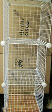 """17 Pcs Metal Wire Cube Storage Modular Shelving Grids,14"""" x 14"""", w/16 Connector"""