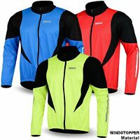 Winter Cycling Jacket Windstopper Thermal Fleece Windproof Long Sleeve Bike Coat