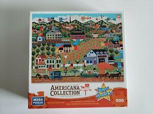Americana Collection 500 piece jigsaw puzzle -  Noah's Pumpkin Farm Complete!