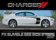 2011 - 2014 Dodge Charger Bumble Bee Side Stripe Solid 3M Quality Stripes