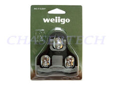New Wellgo RC-7C Road Bike Pedal Cleats 0 Degree Fixed Look Keo Compatible Black
