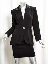 CHRISTIAN LACROIX Womens Black Single-Button Blazer Jacket+Pencil Skirt 36/4 NEW
