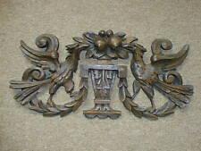 Griffin old carved antique oak overdoor pediment plaque carving motif, replica
