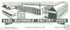 Käfige Buchholz Erfurt XL Reklame 1927 Schmiedeeiserne Fenster Eisenkonstruktion