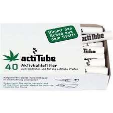 ACTITUBE 40pz FILTRI FILTRINI CARBONI ATTIVI per sigaretta filters 8mm (ex Tune)