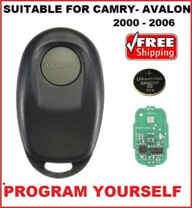 1 Button complete Remote fob Suitable for Toyota Camry or Avalon  2000 - 2006