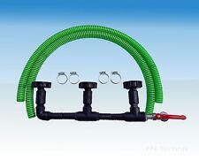 IBC Verbinder Regentonnenverbinder Tankverbinder DN 50 3-fach nebeneinander
