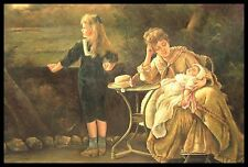 "* 36""x24"" Oil Painting on Canvas, Mother with her Children, Hand Painted"