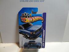 2013 Hot Wheels #154 Blue BMW 2002 w/MC5 Spoke Wheels