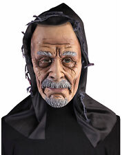 Old Man Hooded Mens Adult Grandpa Face Costume Latex Mask