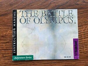 Battle of Olympus NES Nintendo Instruction Manual Only