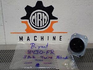 Bryant 8430-FR Nema 15-30 Single Flush Receptacle 3P 30A 250V 3PH Delta NEW