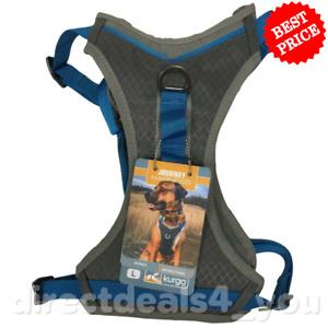 (New) Kurgo Journey Harness for Dog Blue & Gray - Large 50-80 lb
