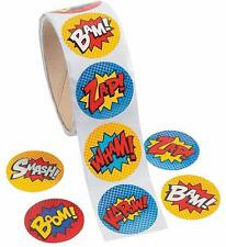 24 Superhero Stickers...Party Favor...Favours...Party Supplies...Craft