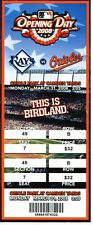 March 31, 2008 Baltimore Orioles vs Tampa Bay Rays Full Opening Day ticket