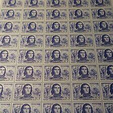 FEUILLE SHEET CHEVALIER GEOFFROI DE LA VILLEHARDOUIN N°1207 x50 1959 NEUF ** MNH