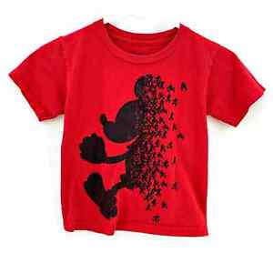 Disney Mickey Mouse Mickey's Red Short Sleeve Tshirt Tee XS