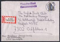 BRD, Einschreiben MiNr. 1407 EF TSt Harsefeld 08.05.1989