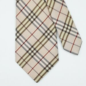BURBERRY LONDON TIE Nova Check in Light Pink Classic Woven Silk Necktie