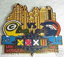Super Bowl 32 Final Score Pin Denver Broncos vs Green Bay Packers