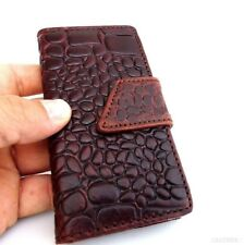 genuine leather case for iphone 4s s 4 book wallet handmade art crocodile model