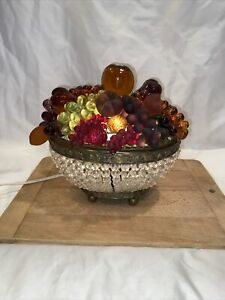 Antique Czechoslovakia Czech Fruit Lamp  1920 - 1930
