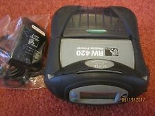 Zebra RW 420 Mobile Thermal Printer BLUETOOTH and WiFi 802.11b Power Adapter