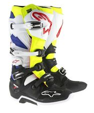 Stivali Alpinestars Off-road Tech 7 Bianco/giallo Fluo/blu - 44.5