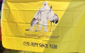 Brand New Large Quality - Bundaberg Rum Brothers In Arms Flag- Bundy Rum