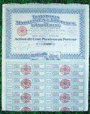 Indochine Epoque Coloniale - Haiphong - Transports Maritimes & Fluviaux de 1949