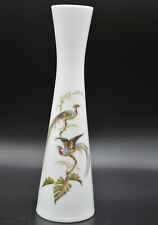 schöne A K Kaiser Porzellan Südsee Paradisvogel Vase 7,2cm Ø 25cm h