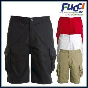 Bermuda da Lavoro Estivi Pantaloni Uomo Corti Multitasche Payper 100% Cotone