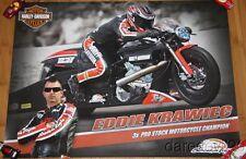 2014 Eddie Krawiec Harley-Davidson Pro Stock Motorcycle NHRA poster