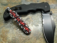 URBAN & B WIDOW PARACORD NO CORE KNIFE LANYARD SILVER BEAD AMERICAN MADE