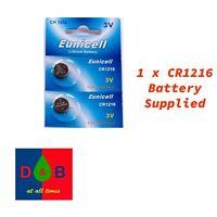 1 X Eunicell CR1216 3V Lithium Coin Cell Battery DL1216 KCR1216, BR1216