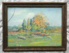 SIGNED c. 1927 GUSTAVE ADOLPH HOFFMAN OIL PASTEL PAINTING ARTWORK! LISTED ARTIST