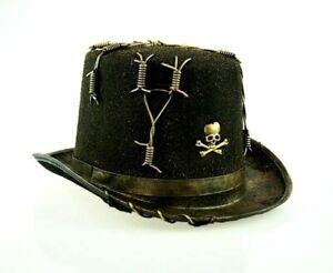 Gothic Voodoo Top Hat Steampunk Hat Halloween Party Hat