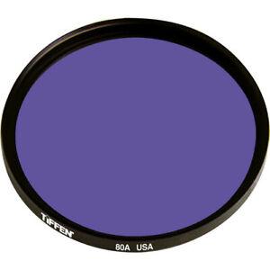 New Tiffen 55mm 80A Color Conversion Glass Filter MFR # 5580A