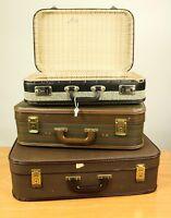 Koffer in Koffer Deko 3er Set Schaufenster Reisebüro Theater Requisite 50er