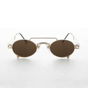 Small Gold Steampunk Aviator with Oval Lens -The Professor