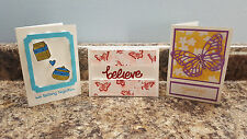 New listing 3 Handmade Stampin' Up! All Occassion Greeting Cards