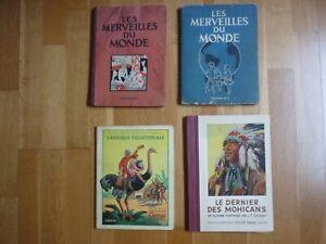LOT 4 ALBUMS ANCIENS IMAGES CHOCOLAT CEMOI ET NESTLE ANNEES 1930