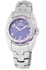 Chronotech Men's CT.7704M/13M Blue Dial Luminous Stainless Steel Date Watch