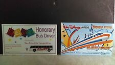 Disney Honorary Bus Driver License Buy One Get Monorail One Free