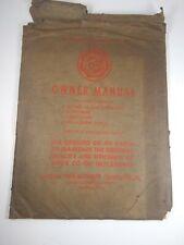 Vtg Original Co-Op Manure Spreaders 31-T 31 National Farm Machinery Owner Manual
