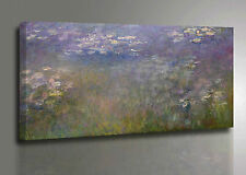 Claude Monet Quadro Ninfee Stampa su Tela Vernice Pennellate Pannello Poster